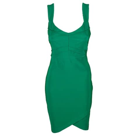 Guess Green Sleeveless Textured Seamed Bodycon Dress 12