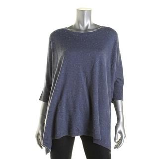 G.H. Bass & Co. Womens Handkerchief Hem Speckled Pullover Sweater