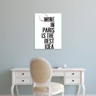 Easy Art Prints Deborah Velasquez's 'Drinks in Paris II' Premium Canvas Art