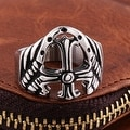 Vienna Jewelry Shield Emblem Stainless Steel Ring - Thumbnail 1