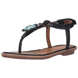 Bumbums & Baubles Girls Belle Faux Leather Thong Sandals - 3 medium (b,m)
