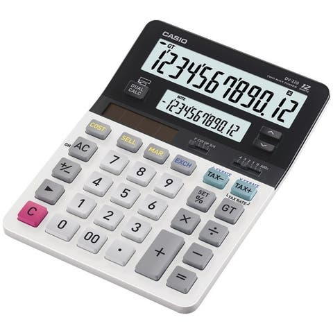Casio Dv-220 Dual Display Desktop Solar Calculator