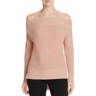 Sanctuary Womens Amelie Pullover Sweater Knit Open Shoulder