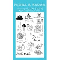"Flora & Fauna Clear Stamps 4""X6""-Slow Down Snail"
