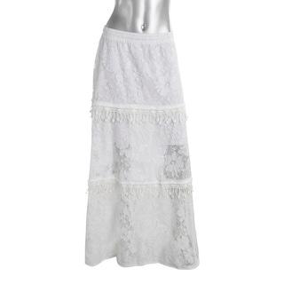 Elie Tahari Womens Tayla Lace Fringe Maxi Skirt - 10