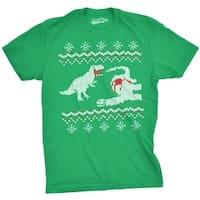 Dinosaur Snack Ugly Christmas Sweater Tshirt