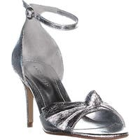 Marc Fisher Brodie Buckle Knotted Sandals, Silver