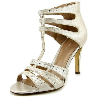 Style & Co Ulani 2 Women Open-Toe Canvas Ivory Heels