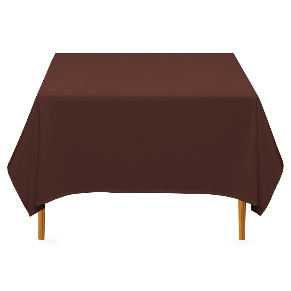 Elite Hemstitch Fabric Tablecloth Solid Rusty Orange 60 Inches by 102 Inches