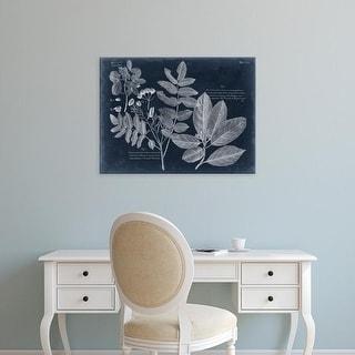 Easy Art Prints Vision Studio's 'Foliage on Navy V' Premium Canvas Art