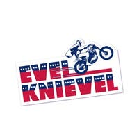 Evel Knievel Bumper Sticker - multi