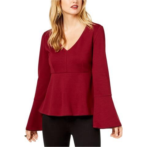 Rachel Zoe Womens Solid Pullover Blouse
