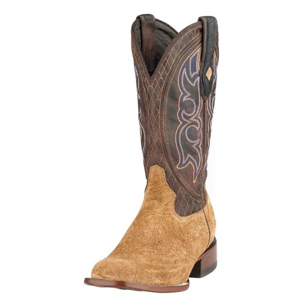 Stetson Western Boots Mens Great Falls Leather Tan