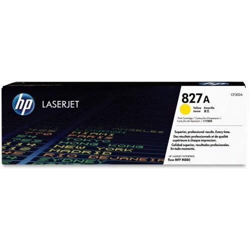 HP 827A Yellow Original LaserJet Toner Cartridge (CF302A)(Single Pack)