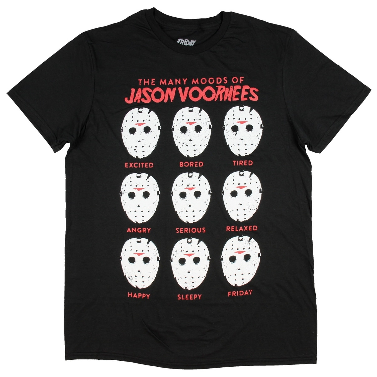 HORROR JASON VOORHEES STRAIGHT OUT OF CRYSTAL LAKE  T SHIRT