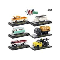 Auto Thentics 6 Piece Set Release 50 IN DISPLAY CASES 1/64 Diecast Model Cars by M2 Machines