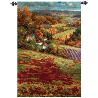"Valley View Autumn Countryside Wall Art Hanging Tapestry 53"" x 35"""