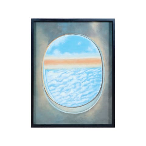 "Dimond Home 7011-1390F Plane Window 40"" x 30"" ""Plane Window VI"" Framed Painting on Gallery Stretched Canvas - Blue"