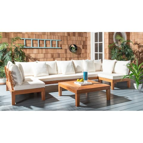 SAFAVIEH Outdoor Living Granton 5-piece Sectional Chat Set