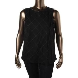 Lauren Ralph Lauren Womens Plus Pullover Top Wool Pattern
