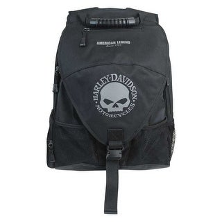Harley-Davidson Vintage Willie G Skull Voyager Backpack, Black BP4134S-GRYBLK
