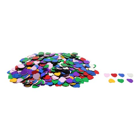 Wedding Plastic Heart Shaped Romance Confetti Table Decor Assorted Color 500 Pcs