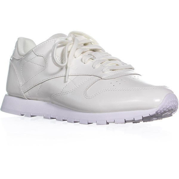 Shop Reebok Classic Leather Patent Casual Sneakers White