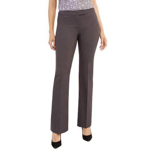 Anne Klein Womens Dress Pants Gray Size 4 Melange Flare Leg Stretch