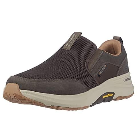Skechers Men's Gowalk Outdoors-Performance Athletic Slip-on Walking Shoe, Brown