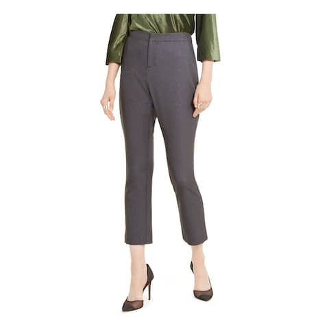 INC Womens Gray Solid Capri Wear To Work Pants Size 12