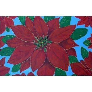 Custom Printed Rugs Poinsettia Door Mat