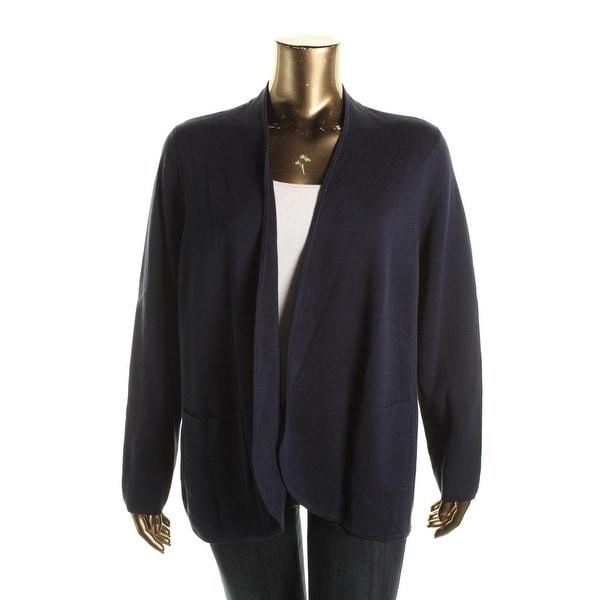 Eileen Fisher Womens Plus Basic Jacket Silk Open Front