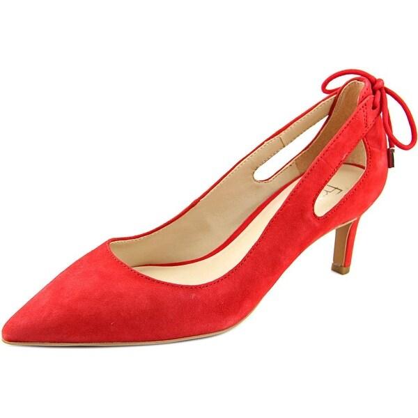 Franco Sarto Doe Women Pointed Toe Suede Red Heels