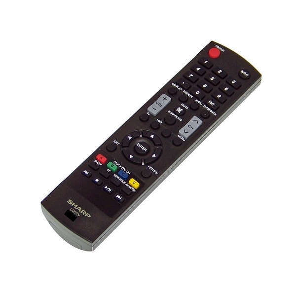OEM Sharp Remote Control Originally Shipped With: LC42D69U, LC-42D69U, LC32LE551U, LC-32LE551U, LC32LE451, LC-32LE451
