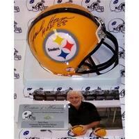 Jack Ham Hand Signed Steelers Mini Helmet - PSA/DNA