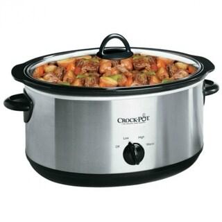 Crock-Pot SCV700-SS Oval Manual Slow Cooker, Silver, 7-Quart