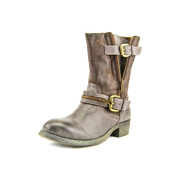 r.b.l.s. Siam Women Round Toe Synthetic Brown Boot