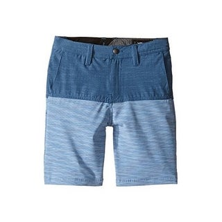 Volcom Boys Frickin Snt Block Shorts (Toddler/Little Kids), Smokey Blue, 7