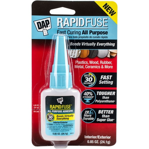 DAP Rapid Fuse All Purpose Glue-.85oz Clear
