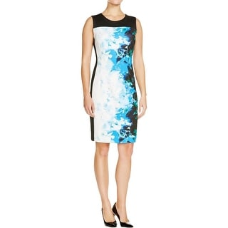 T Tahari Womens Dakota Wear to Work Dress Scuba Floral Print
