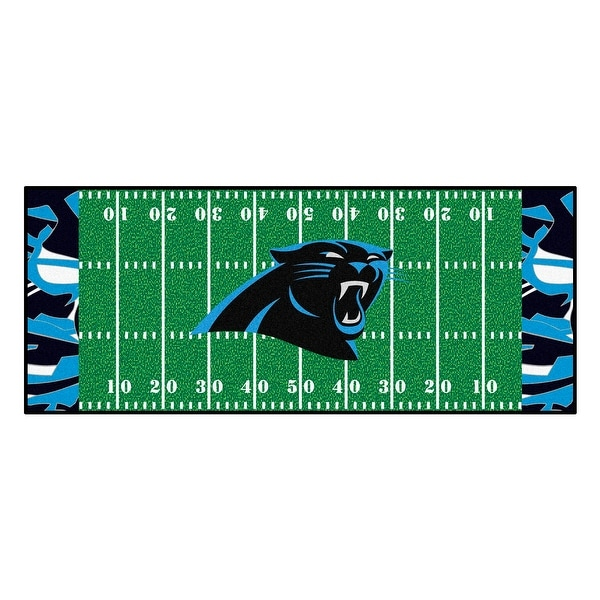 d54f3bc79 Shop NFL Carolina Panthers Football Field Runner Mat Area Rug - Free Shipping  Today - Overstock - 22626556