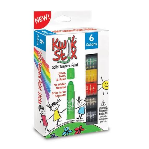 (6 Pk) Kwik Stix Tempera Paint Primary Colors 6 Per Pk