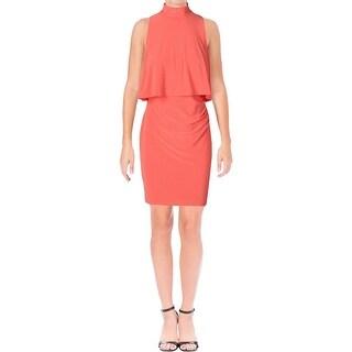 Lauren Ralph Lauren Womens Petites Casual Dress Layered Sleeveless