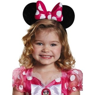 Disney Pink Minnie Lite-Up Child Costume Ears One Size - Multi