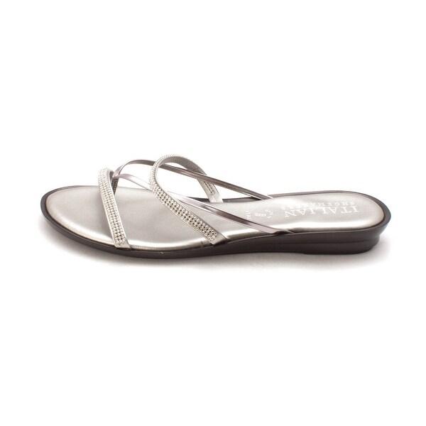 2e8ce9763c ITALIAN Shoemakers Womens 4046V8 Jewel Wedge Open Toe Casual Slide Sandals