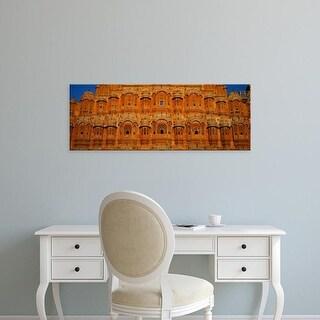 Easy Art Prints Panoramic Images's 'Facade of a palace, Hawa Mahal, Jaipur, Rajasthan, India' Premium Canvas Art