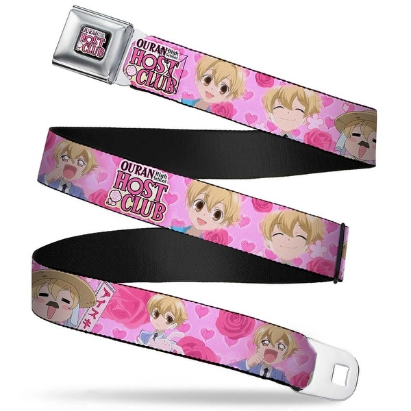 Ouran High School Host Club Full Color Black White Pink Ouran 5 Mitsukuni Seatbelt Belt