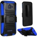 Insten Hard PC/ Silicone Dual Layer Hybrid Case Cover with Stand/ Holster For Coolpad Catalyst - Thumbnail 2