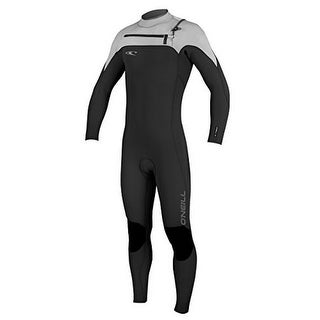 Oneill Mens 3MM Hyperfreak Frontzip Full Wetsuit, Black/Lunar/BtBlue, Medium