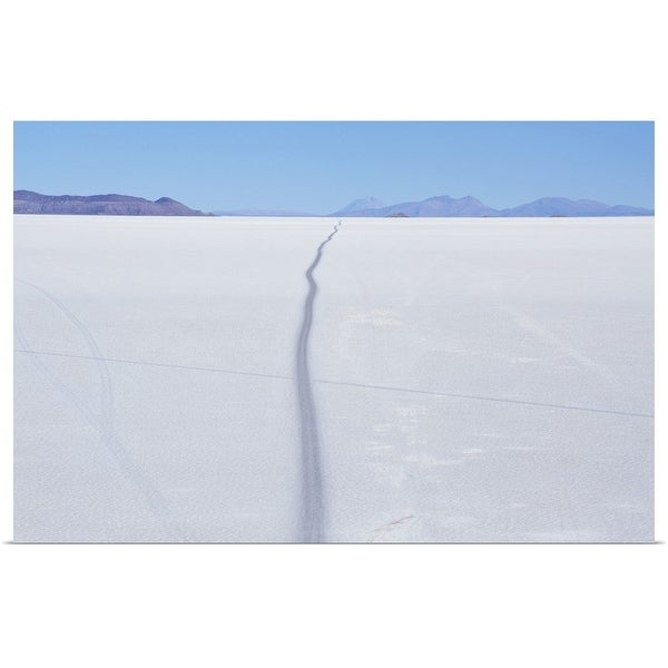 """Road through salt desert"" Poster Print"